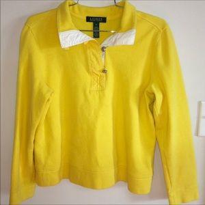 Ralph Lauren Nautical Yachting Yellow Sweater